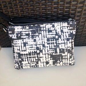 Bags - Black & white crossbody bag, NWOT